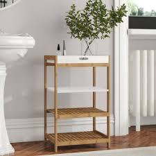 holzregal für das badezimmer relaxdays living at home