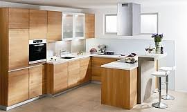 naturholz küche in l form aus hellem holz