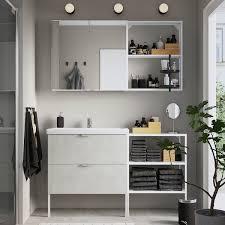 enhet tvällen badezimmer set 15 tlg betonmuster weiß pilkån mischbatterie 142x43x87 cm