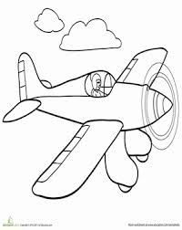 Get Your Kids Excited For The Airshow With This Coloring Page Featuring A Race Airplane Flying