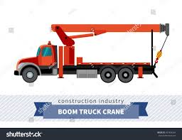 Boom Truck Crane Mounted On Truck Stock Vector (Royalty Free ...