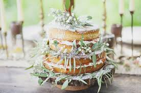 One Of The Biggest Trends Goes Back To Basics A Naked Cake Christened With Halo Fresh Flowers Source Rustic Wedding Chic
