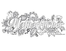 Motherfucker Sweary Coloring Page From The By Swearybook