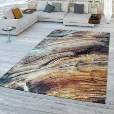 wohnzimmer teppich bunt abstraktes design 3 d muster robust weich kurzflor größe 160x230 cm