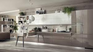 cuisine taupe et gris cuisine ouverte sur salon de design italien moderne salon taupe