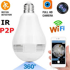 2018 new arrival wifi wireless ip p2p bulb with