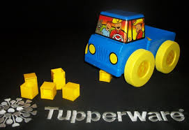 TUPPERWARE TUPPER KIDS Toys ~Pick Em Up Truck ~BLUE ~10 Yellow ...