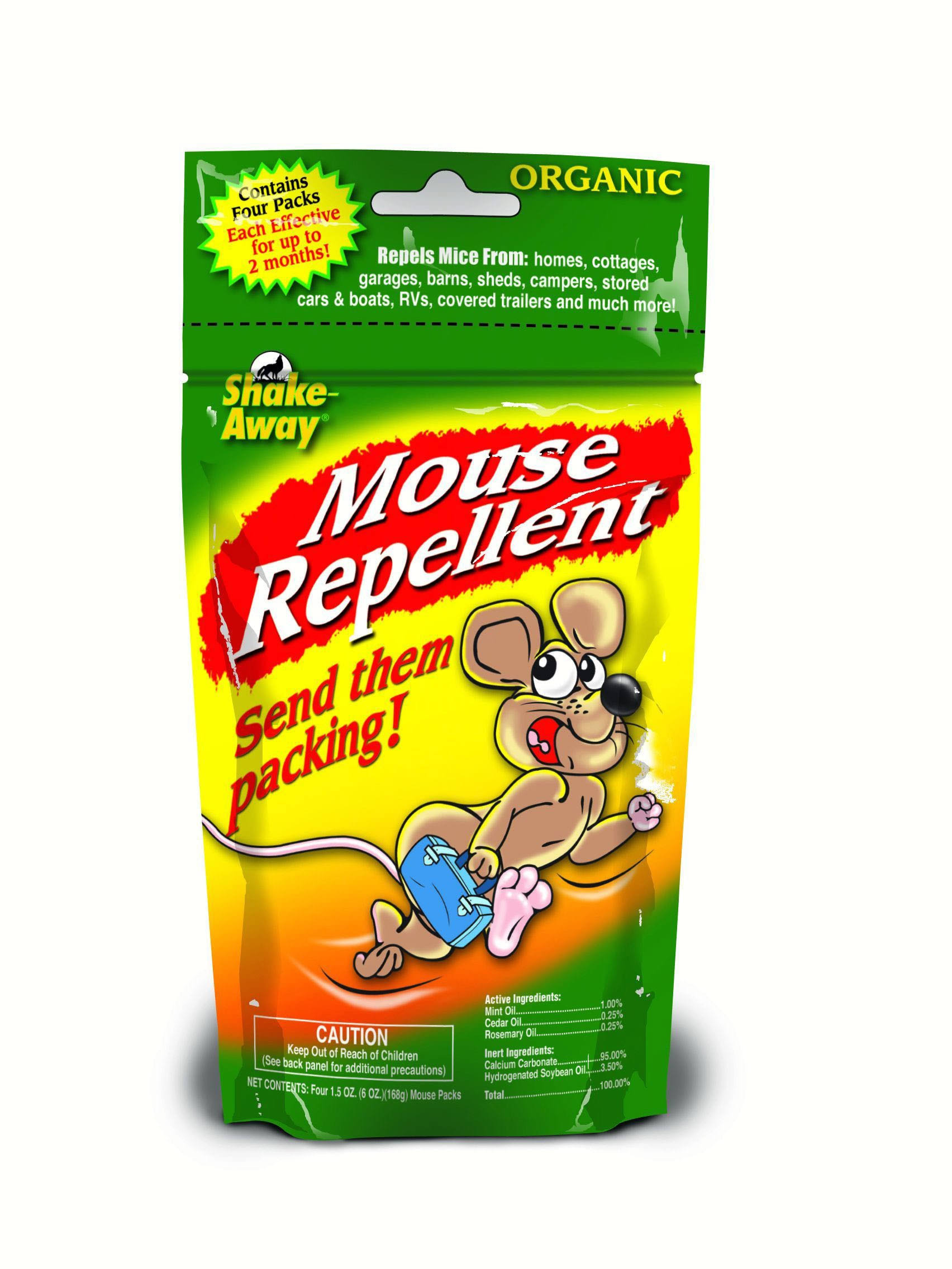 Shake Away Mouse Repellent - Pack 4, 1.5oz
