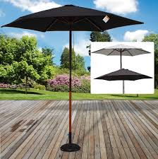 100 Wooden Parasols Details About 25M Parasol Umbrella Sunshade Outdoor Patio Garden Furniture Cafe Canopy