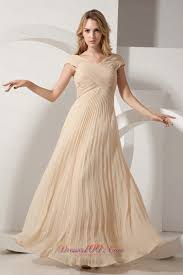 discount champagne column pleat chiffon maxi dress plus size prom