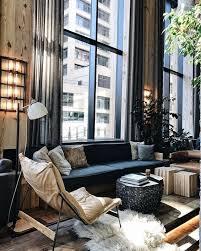 loft wohnzimmer im new york look tasarım iç mekanlar