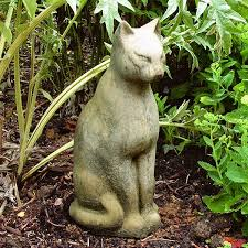 cat garden statue large cat ornamental cat garden statues