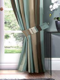 Navy And White Striped Curtains Uk by Duck Egg Blue Brown Striped Curtains Memsaheb Net