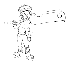 Little Boy Naruto Coloring Pages Printable
