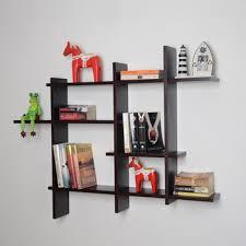 Bookcase Display Racks Wooden Wall Shelf Design
