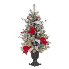 32 In Pre Lit Snowy Artificial Tree With 35 Clear UL Lights