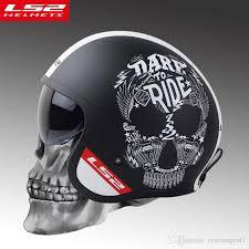 Ls2 Of599 Vintage Motorcycle Helmet Women Man Open Face Retro Scooter Moto With Sun Shield Motorbike Vespa Helmets Visor