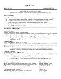 Automotive Technician Resume Objective Examples Skills List Mechanic Pdf