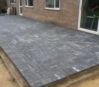 Installing 12x12 Patio Pavers by Paver Patio Designs With Fire Pit Laying Pavers Without Sand Paved
