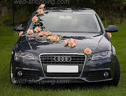 decoration voiture mariage originale wedding car decoration orange flowers mariage