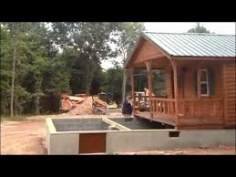 14x40 Cabin Floor Plans by Lincoln 14x40 Cabin Placement On Foundation Virginia Youtube