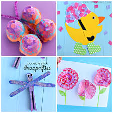 Pretty Spring Crafts For Kids To Make
