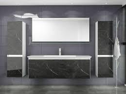 badmöbel set weiss marmor optik hochglanz 6 teilig keramik