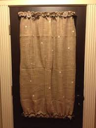 Smocked Burlap Curtain Panels by I Love That Smocked Burlap Curtain Cottage Style Pinterest
