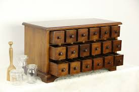 Apothecary Cabinet Vintage 18 Drawer Collector or Jewelry Chest