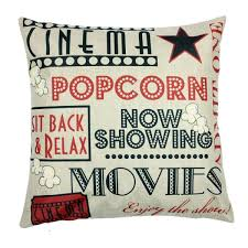 Decorative Couch Pillows Amazon by Amazon Com Movie Theater Cinema Personalized Home Decor Design
