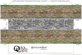 smashwords printable 3d dungeon tiles minotaur maze set for