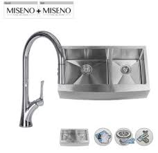 faucet com mss3218sr5050e in 16 gauge stainless steel by miseno