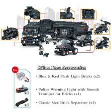 Amazon.com: WOMA Police Swat City Mobile Command Centre Truck ...