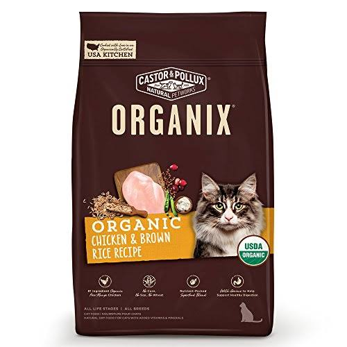 Castor Pollux Organix Dry Cat Food - Chicken Brown Rice Recipe, 3lbs