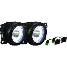x lighting 07 09 jeep jk fog light upgrade kit with optimus halo