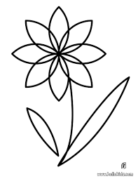 Coloring Pages Flower Hellokids Sheets
