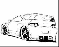 Spectacular Sports Cars Coloring Pages With Car Page And