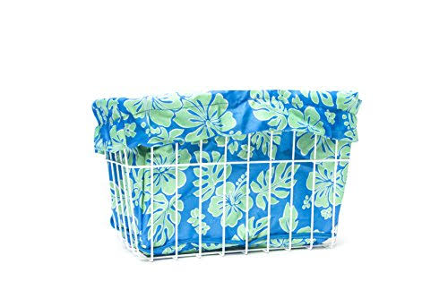 Cruiser Candy Reversible Bike Basket Liner - Blue and Green