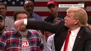 Matt Lauer Halloween Snl by Snl Highlights Donald Trump Punches U0027a Bee U0027 Off Someone U0027s Face