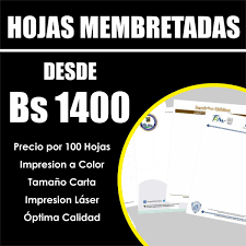 Hojas Membretada Recipes Medico 100unid Carta Full Color