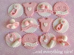 Sugar & Spice Baby Shower Cupcake Toppers