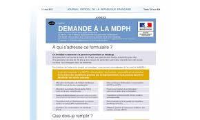 démarches mdph nouveau formulaire le 1er sept 2017 formulaires