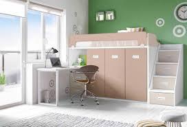 lit mezzanine avec bureau et rangement lit a etage avec bureau lit mezzanine en pin massif xcm