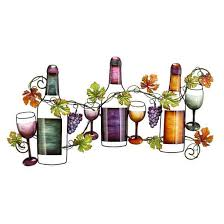 Wine And Grapes Kitchen Decor by Metal Wine Wall Decor Tuscan Theme Variations Imports Inc