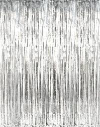amazon com metallic pink foil fringe curtains 3 feet x 8 feet 1