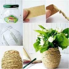 Here Is A Nice DIY Project To Make Kraft Paper Decorated Flower Vase You Can See That Its Really Easy This Rustic Style Accompany The