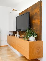 wohnzimmerwand rostoptik tischlerei lindner
