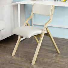 sobuy klappstuhl küchenstuhl mit gepolsterter sitzfläche und lehne weiß fst40 w