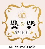 Abstract Mr Mrs Save The Date