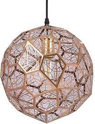 kesai homedeco 50 cm nordic pendelleuchte diamant hängen licht aushöhlen pendelleuchte esszimmer deckenleuchte edelstahl stehlen hängele